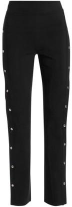 Chiara Boni Veerle High-Waist Side-Snap Pull-On Pants