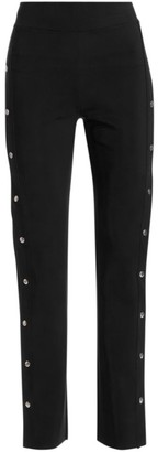 Chiara Boni Veerle High-Waist Side-Snap Pull-On Pants