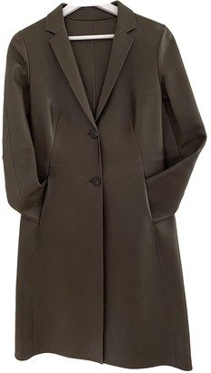 Bally Brown Leather Coat for Women