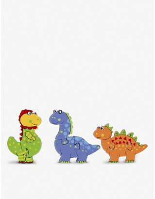 Selfridges Dinosaur Puzzle wooden toy dinosaur puzzle set of three 17cm