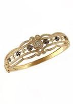 Effy Jewelry Effy Espresso 14K Yellow Gold Diamond Filigree Bangle, 2.03 TCW