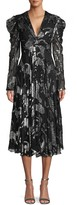 Carolina Herrera Animal-Print Textured Knee-Length Dress