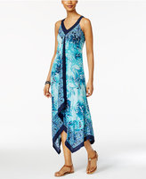 Style&Co. Style & Co Style & Co Petite Printed Handkerchief-Hem Maxi Dress, Created for Macy's