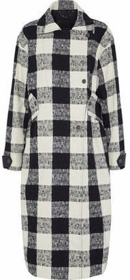 Belstaff Double-breasted Checked Cotton-blend Boucle-tweed Coat