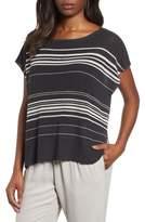 Eileen Fisher Organic Linen Blend Poncho Sweater