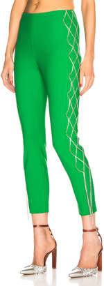 Area Bonded Crystal Legging in Kelly Green | FWRD