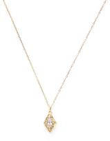 Ila Women's Ruchika 14K Yellow Gold, White Sapphire & 0.06 Total Ct. Diamond Locket Necklace