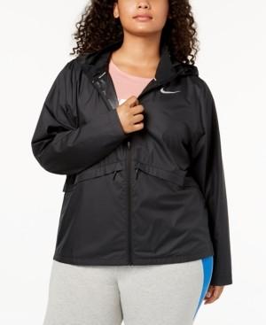 Nike Plus Size Essential Water-Repellent Hooded Running Jacket