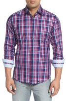 Stone Rose Men's Trim Fit Plaid Sport Shirt