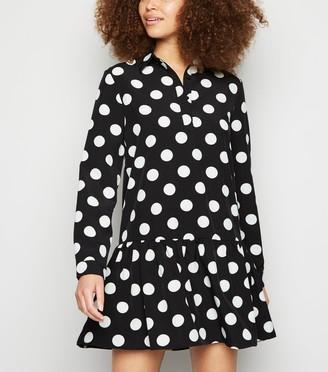 New Look Urban Bliss Spot Frill Shirt Dress