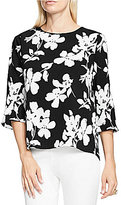 Vince Camuto Elbow-Sleeve Fresco Bloom Blouse