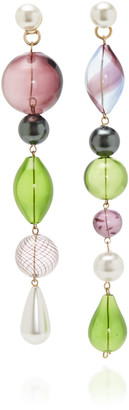 Beck Jewels The Masque Glass And Pearl Earrings