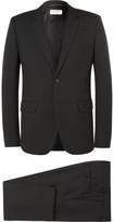 Saint Laurent - Black Slim-fit Virgin Wool-gabardine Suit