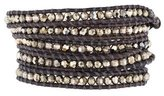 Chan Luu Pyrite, Crystal& Bead Wrap Bracelet