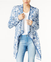 Tommy Hilfiger Printed Waterfall Cardigan, Only at Macy's