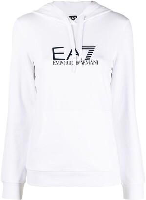 EA7 Emporio Armani Logo Print Hoodie