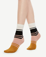 Ann Taylor Colorblock Trouser Socks