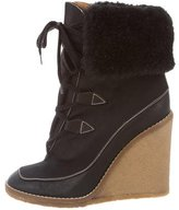 Chloé Shearling-Lined Wedge Boots