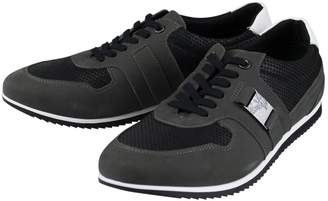Versace Anthracite Suede Trainers