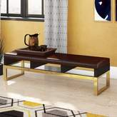 Bronx Lower Failand Faux Leather Bench Ivy