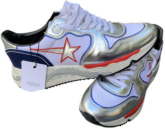 Golden Goose Silver Leather Trainers