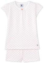 Petit Bateau Girls rose print short pyjamas