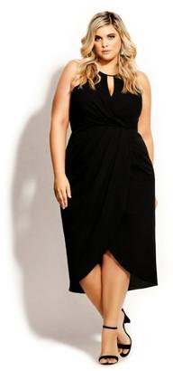 City Chic Love Story Dress - black
