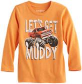 "Jumping Beans Toddler Boy Jumping Beans® ""Let's Get Muddy"" Monster Truck Long-Sleeve Tee"