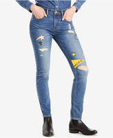 Levi's Limited 721 High-Waist Patched Skinny Jeans, Created for Macy's