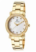 Cabochon Women's 16604-YG-22 Carmel Analog Display Quartz Gold Watch