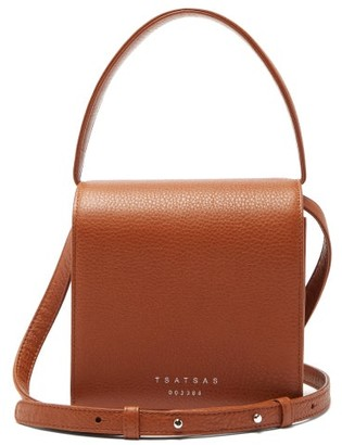 Tsatsas Malva 2 Grained-leather Bag - Tan