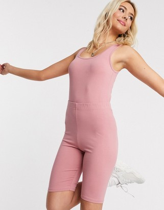 Outrageous Fortune loungewear square neck body in rose