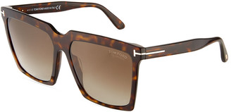 Tom Ford Sabrina Square Plastic Sunglasses