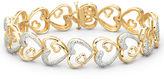 JCPenney FINE JEWELRY 1/10 CT. T.W. Diamond Heart Bracelet