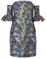 Petite jacquard bardot dress