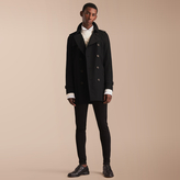 Burberry The Kensington - Mid-length Heritage Trench Coat , Size: 58, Black