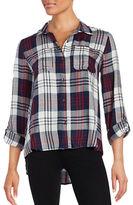 Jessica Simpson Plaid Button-Front Shirt