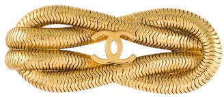 Chanel Pre Owned 1980s Rope Knot Brooch