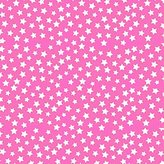 Camilla And Marc SheetWorld Fitted Crib / Toddler Sheet - Primary Stars White On Pink Woven - Made In USA - 28 inches x 52 inches (71.1 cm x 132.1 cm)