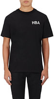 "Hood by Air Men's ""Crew"" Cotton T-Shirt-BLACK"