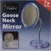 Harry D. Koenig Gooseneck Magnifying Mirror, Silver, Medium