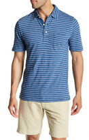 Faherty Short Sleeve Striped Polo