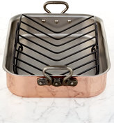 "Mauviel Tri-Ply Copper 15.7"" x 11.8"" Roaster with Rack"""