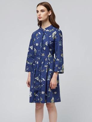 Louche LILIA HOLIDAY PRINT BUTTON DRESS - UK 14