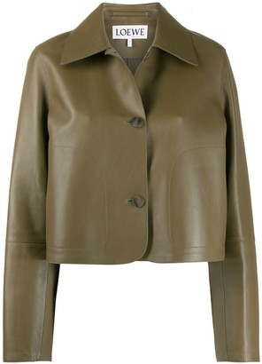Loewe Cropped Button-Up Jacket