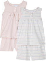 The Little White Company Cotton top and shorts pyjama set of two 1-6 years