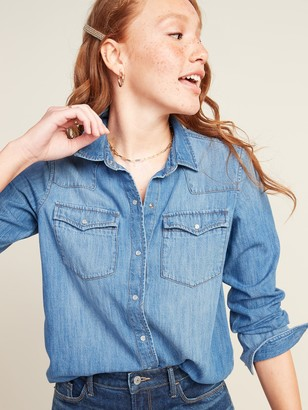 Old Navy Relaxed Western Jean Shirt for Women