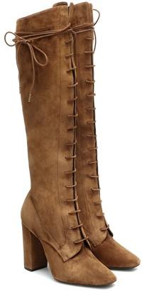 Saint Laurent Laura 100 suede knee-high boots
