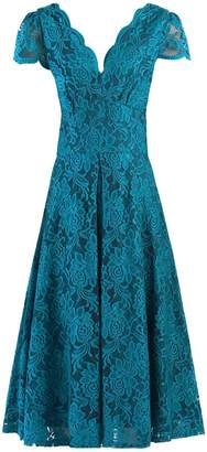 Dorothy Perkins Womens **Jolie Moi Teal Scalloped Lace Dress, Teal