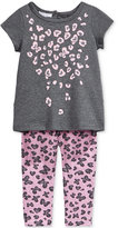 First Impressions Baby Girls' 2-Pc. Animal-Print Top & Leggings Set, Only at Macy's